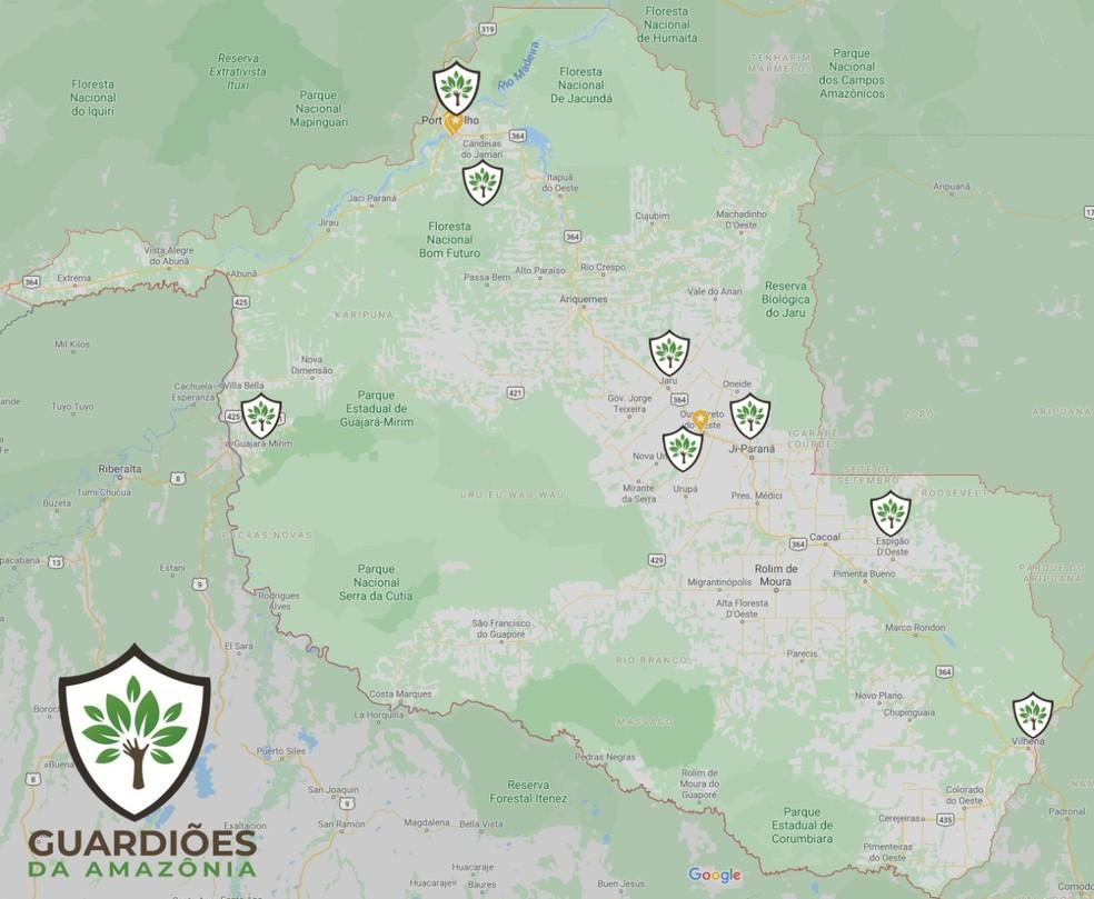 Guardiões da Amazônia já funciona em 8 cidades de Rondônia.  — Foto: Divulgação/José Mário Fraga Miranda