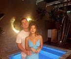 Thiago Martins com a namorada, Talita Nogueira   Reprodução