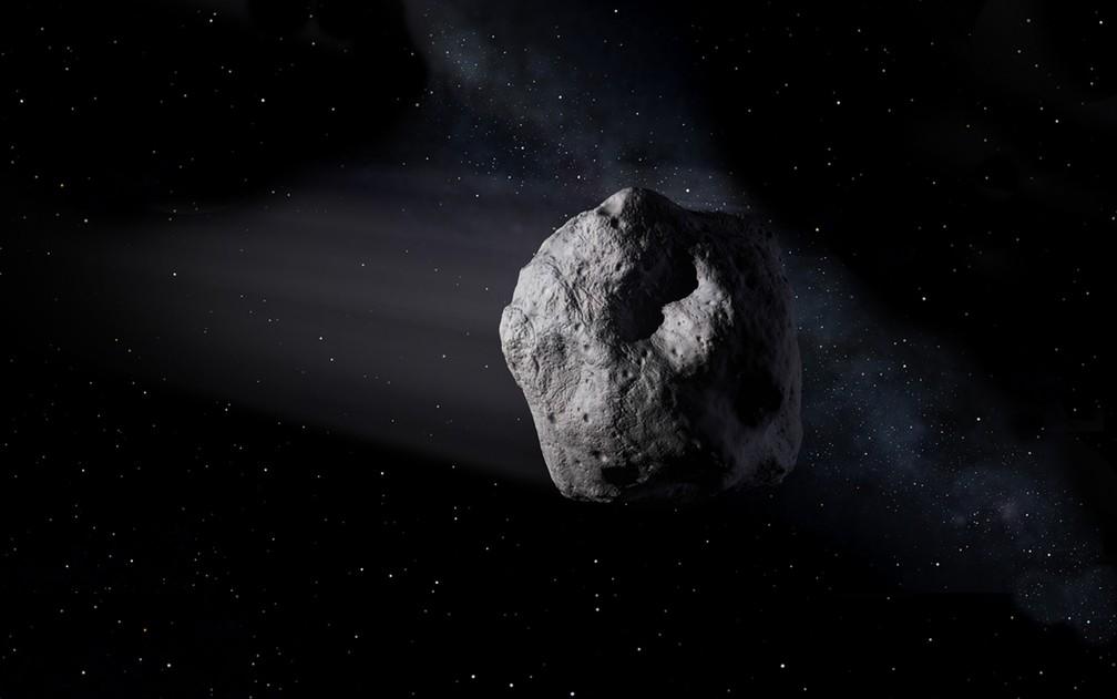 Ilustração representa asteroide no espaço (Foto: Nasa/Divulgação)