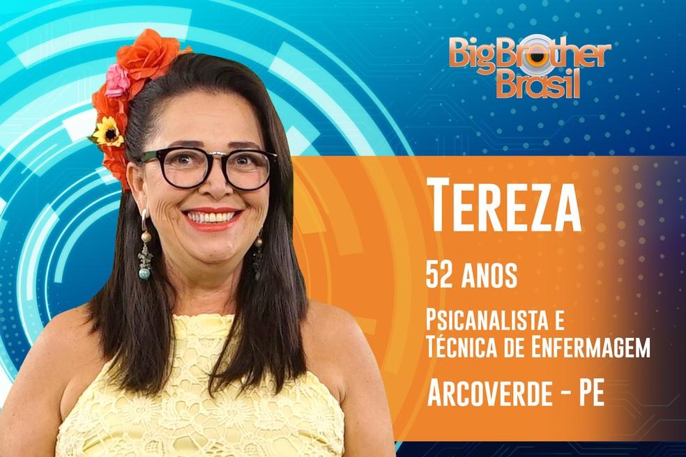 Tereza, de 52 anos, já se casou seis vezes — Foto: TV Globo