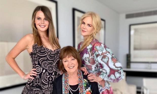 Nicole Kidman com sua mãe, Janelle Ann Kidman e a sobrinha, Lucia Hawley (Foto: Reprodução / Instagram)