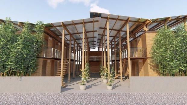As unidades habitacionais CUBO podem ser produzidas em uma semana e construídas em apenas quatro horas (Foto: BBC)