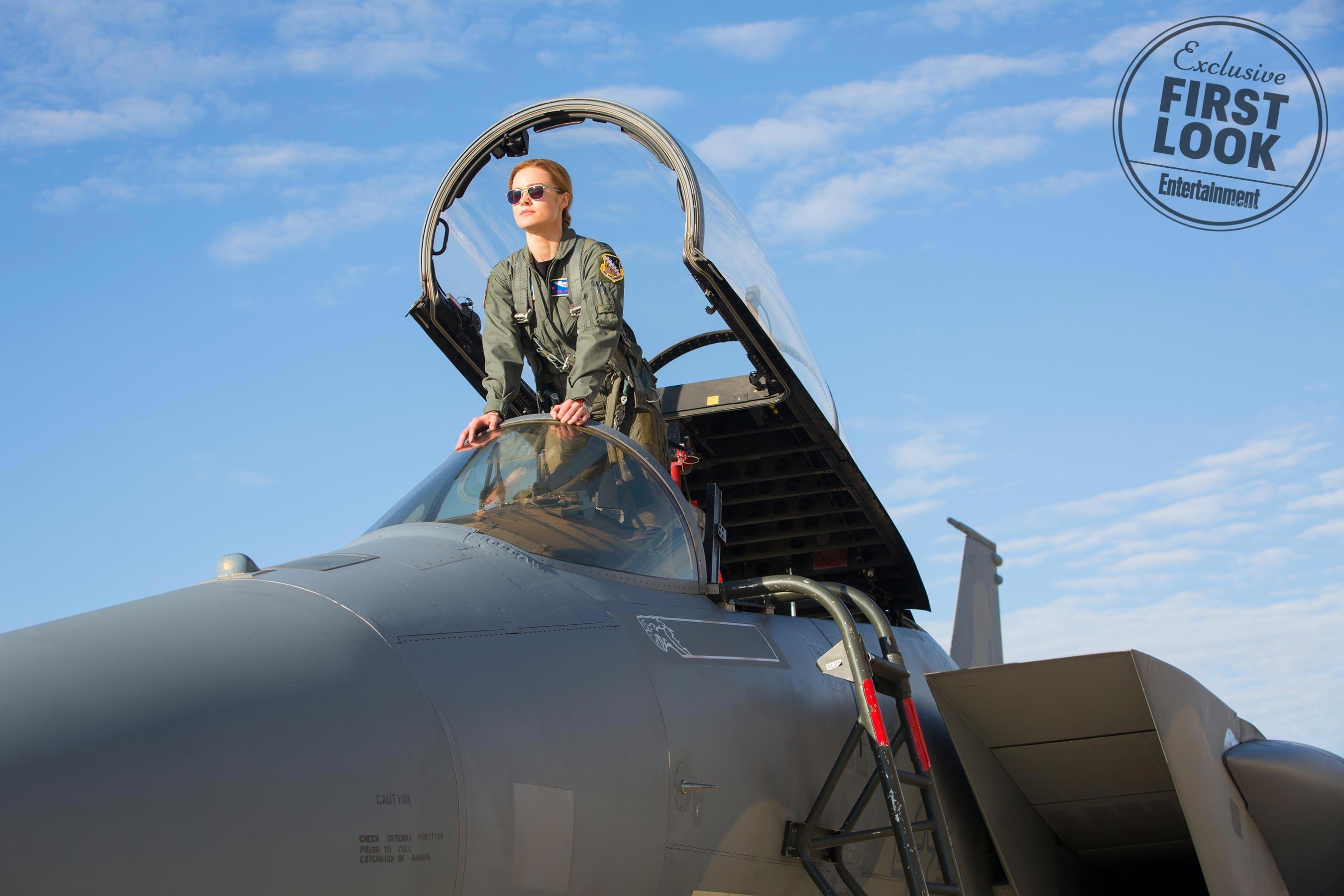 Brie Larson como Carol Danvers, a Capitã Marvel (Foto: Reprodução/EW)