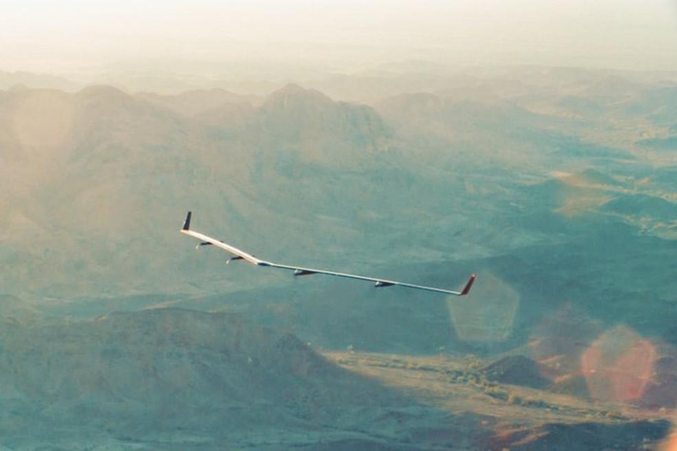 Aquila, drone do Facebook, vai fornecer Internet a regiões remotas do mundo  (Foto: Divulgação/Facebook)