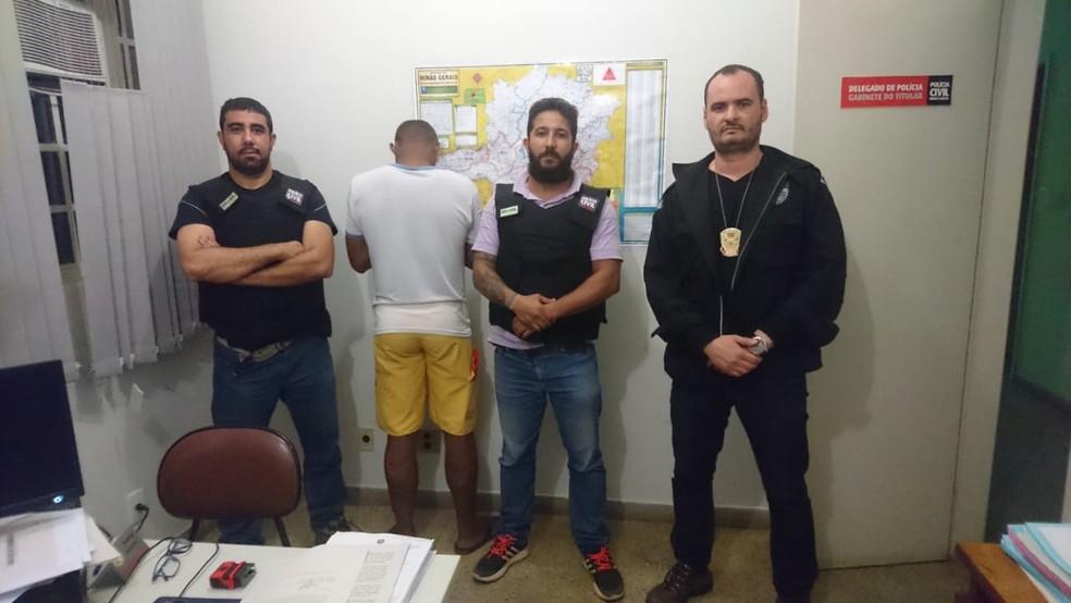 Homem foi preso em Santa Maria do Suaçuí suspeito de estuprar menino de 13 anos (Foto: Polícia Civil/Divulgação)