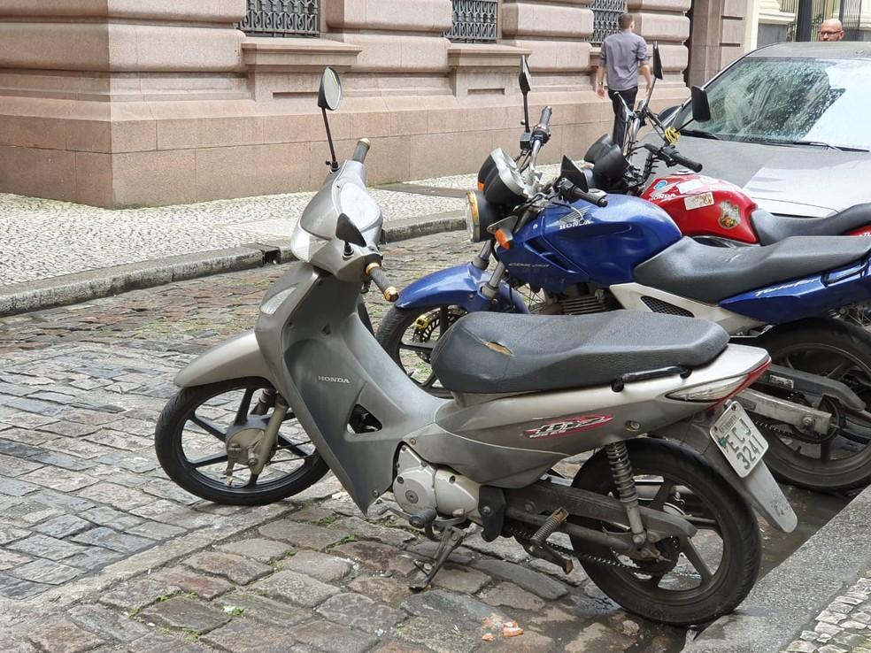 Em Santos, 30% da frota é de motos — Foto: Mariane Rossi/G1