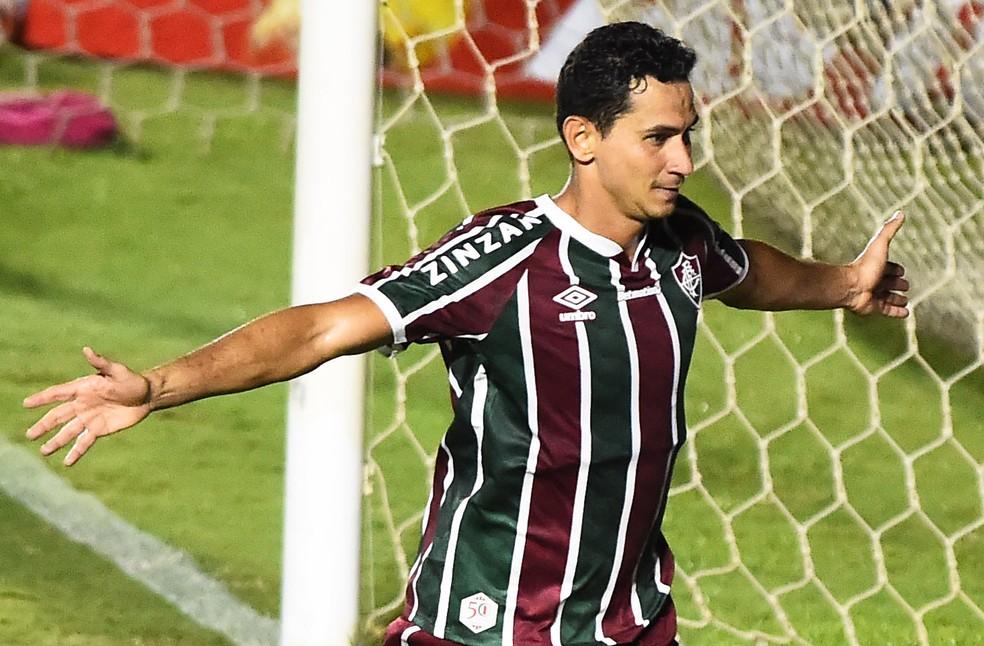 """Ganso soma dois gols em cinco jogos como """"falso 9"""" — Foto: André Durão"""