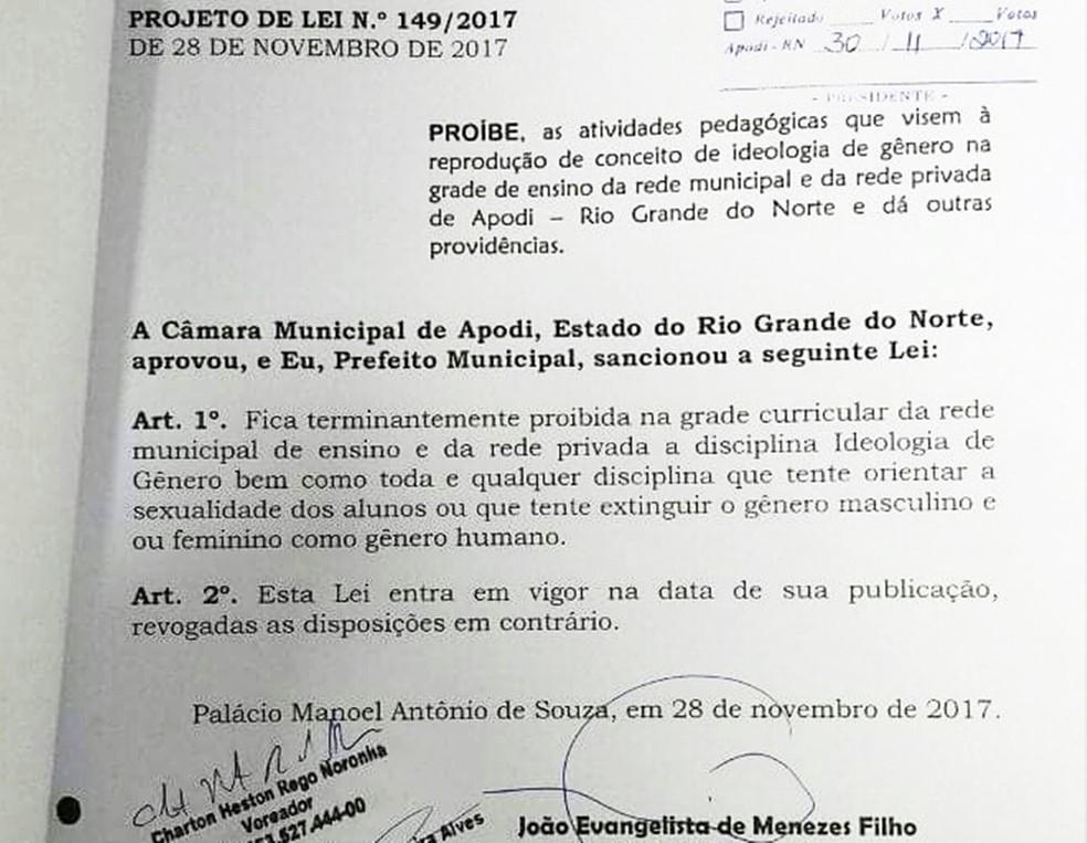 Projeto foi aprovado dia 28 de novembro, mas texto original pode ser alterado (Foto: Reprodução)
