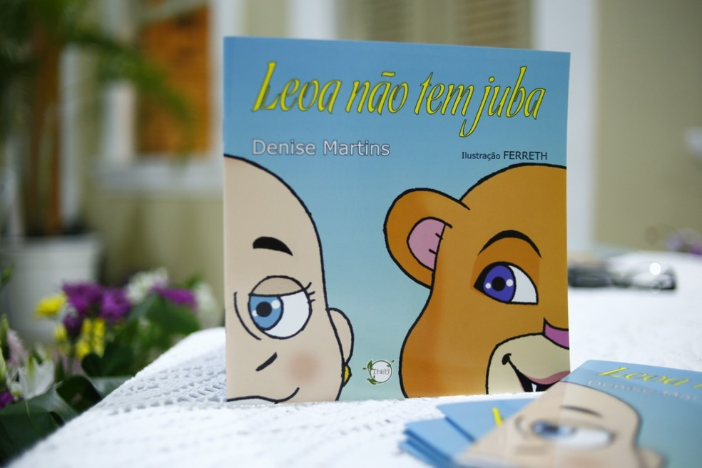 Livro infantil lançado em Natal tem objetivo de inspirar crianças com câncer a lutar — Foto: Divulgação