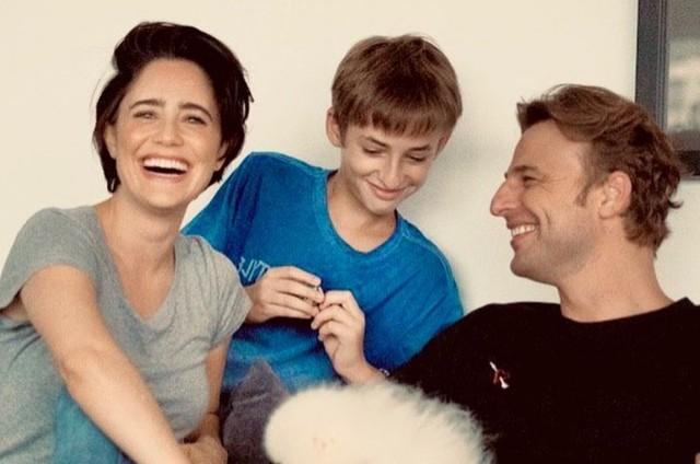 Fernanda Vasconcellos com o enteado Noah Reis e o marido, Cassio Reis (Foto: Reprodução)