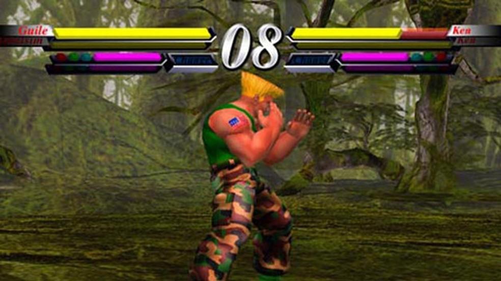 Street Fighter EX 3 foi um dos títulos de lançamento do PlayStation 2 — Foto: Reprodução/PlayStation