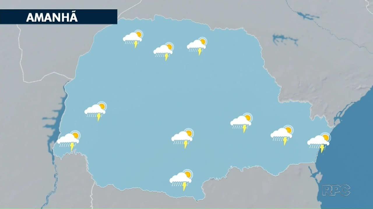 Fim de semana começa com tempo instável em todo o Paraná