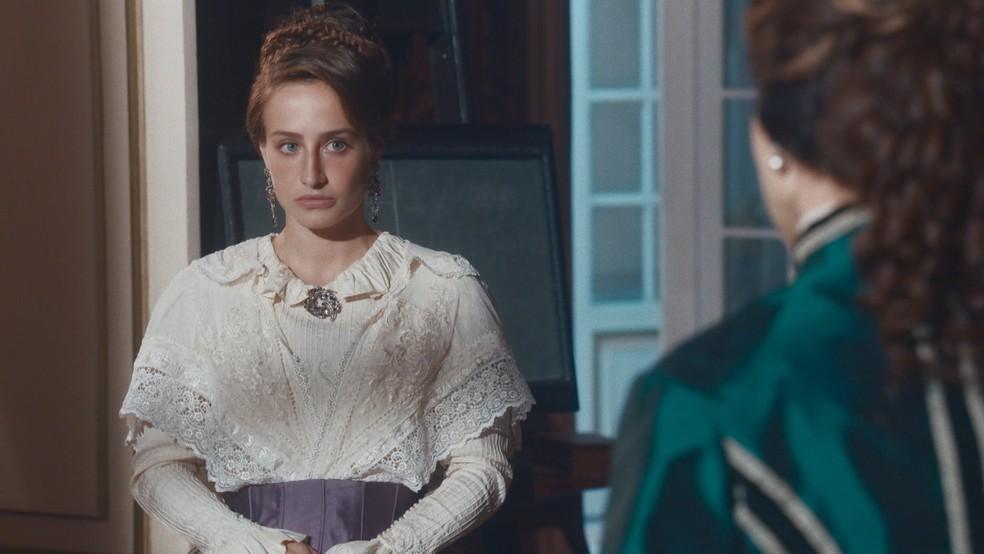 Leopoldina (Bruna Griphao) irá recusar casamento em 'Nos Tempos do Imperador' — Foto: Globo