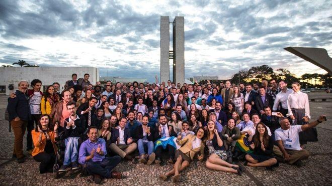 Bolsistas do RenovaBR concluíram formação em Brasília e agora encaram a entrega de um trabalho de conclusão de curso e a campanha eleitoral (Foto: Divulgação/RenovaBR)