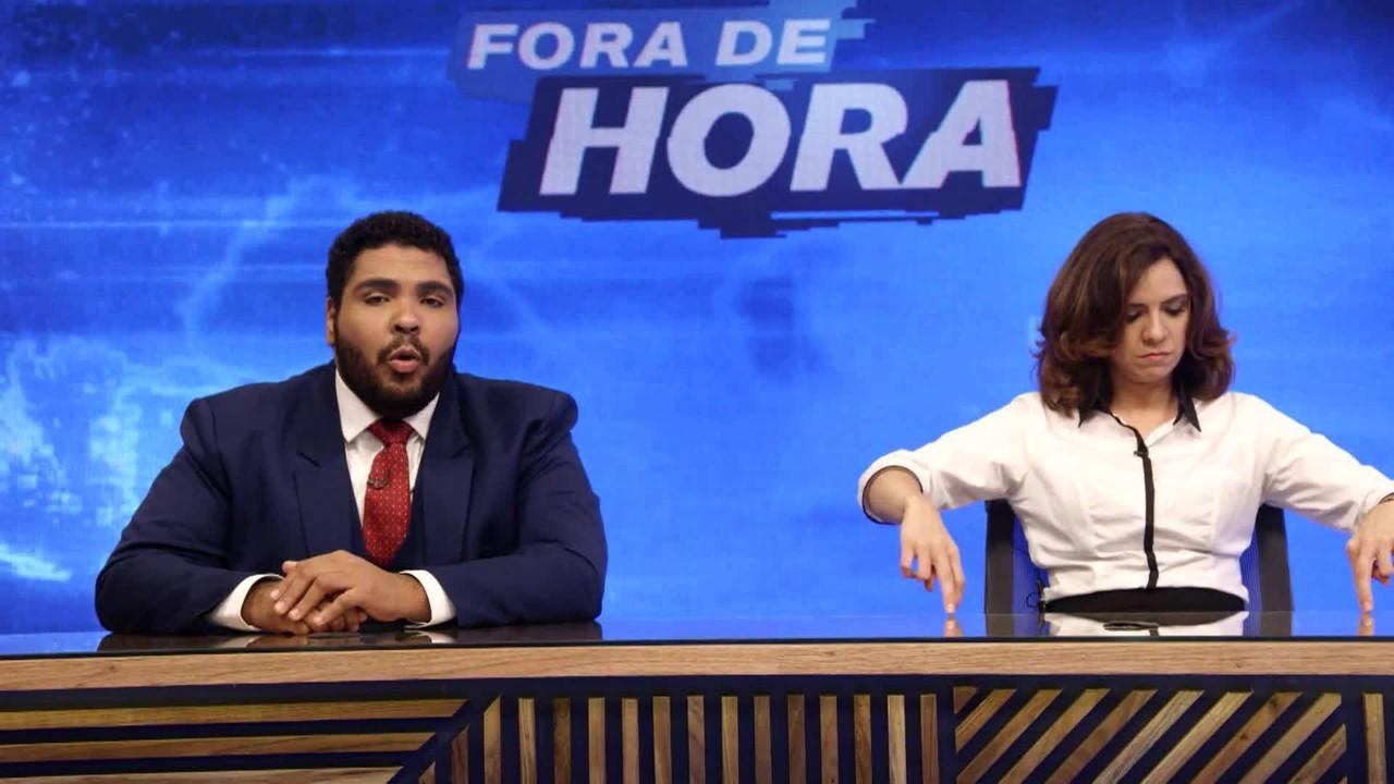 'Fora de Hora': Paulo Vieira e Renata Gaspar apresentam o humorístico