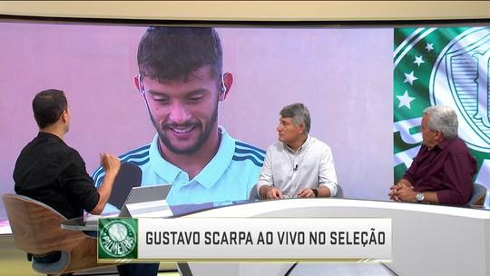 """Gustavo Scarpa festeja primeiros gols pelo Palmeiras: """"Dor de cabeça boa para o treinador"""""""