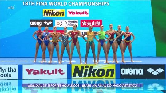 Brasil se classifica para a final do nado artístico no mundial de esportes aquáticos