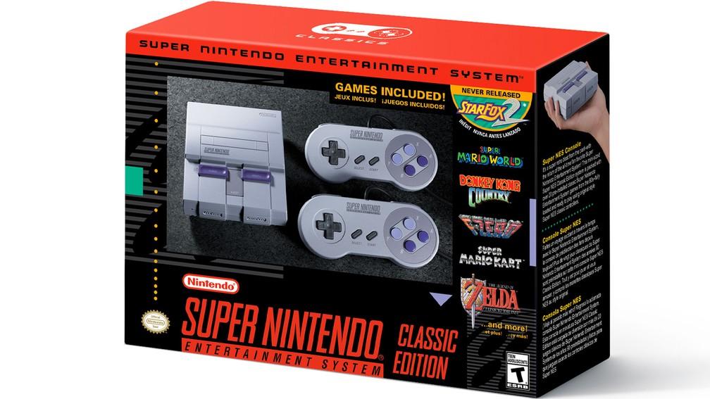 Super Nintendo Classic Edition é nova versão do console da Nintendo e vem com 21 jogos na memória — Foto: Divulgação