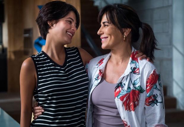 Julia Dalavia e Gloria Pires: mãe e filha na ficção (Foto: Divulgação/TV Globo)
