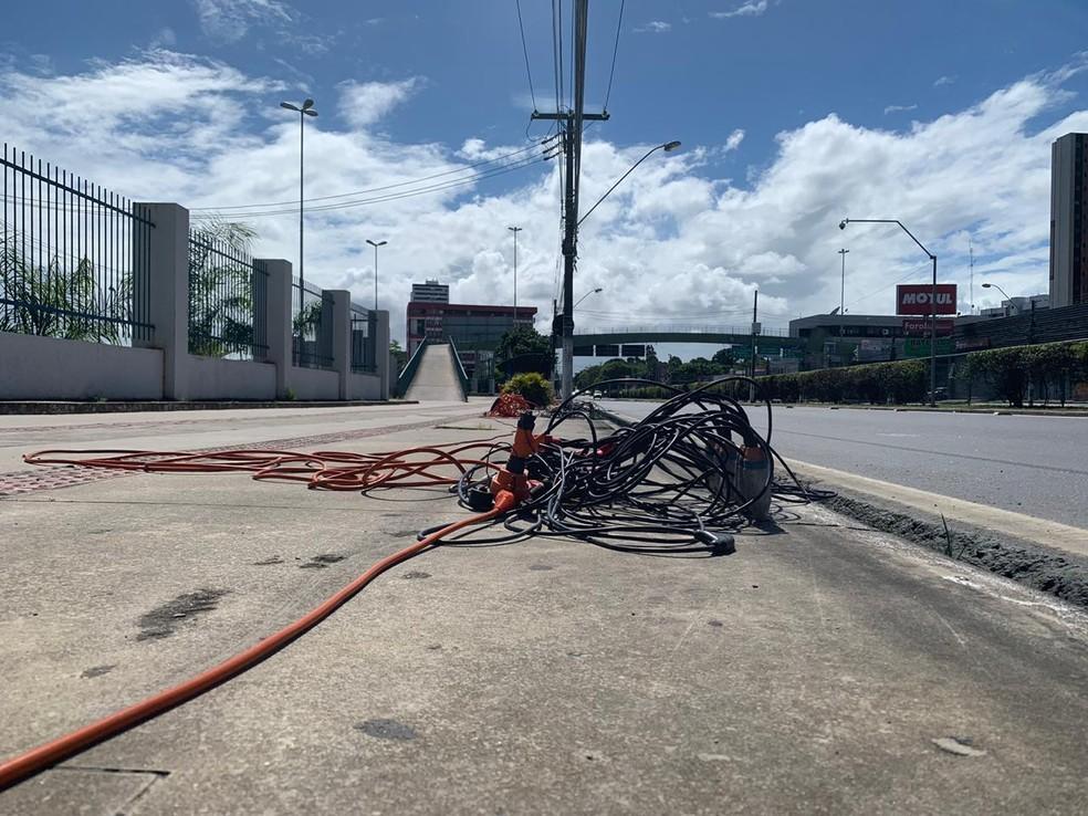 Pesquisa não prejudicou o trânsito na avenida Fernandes Lima, em Maceió, neste domingo — Foto: Ricardo Amaral/TV Gazeta