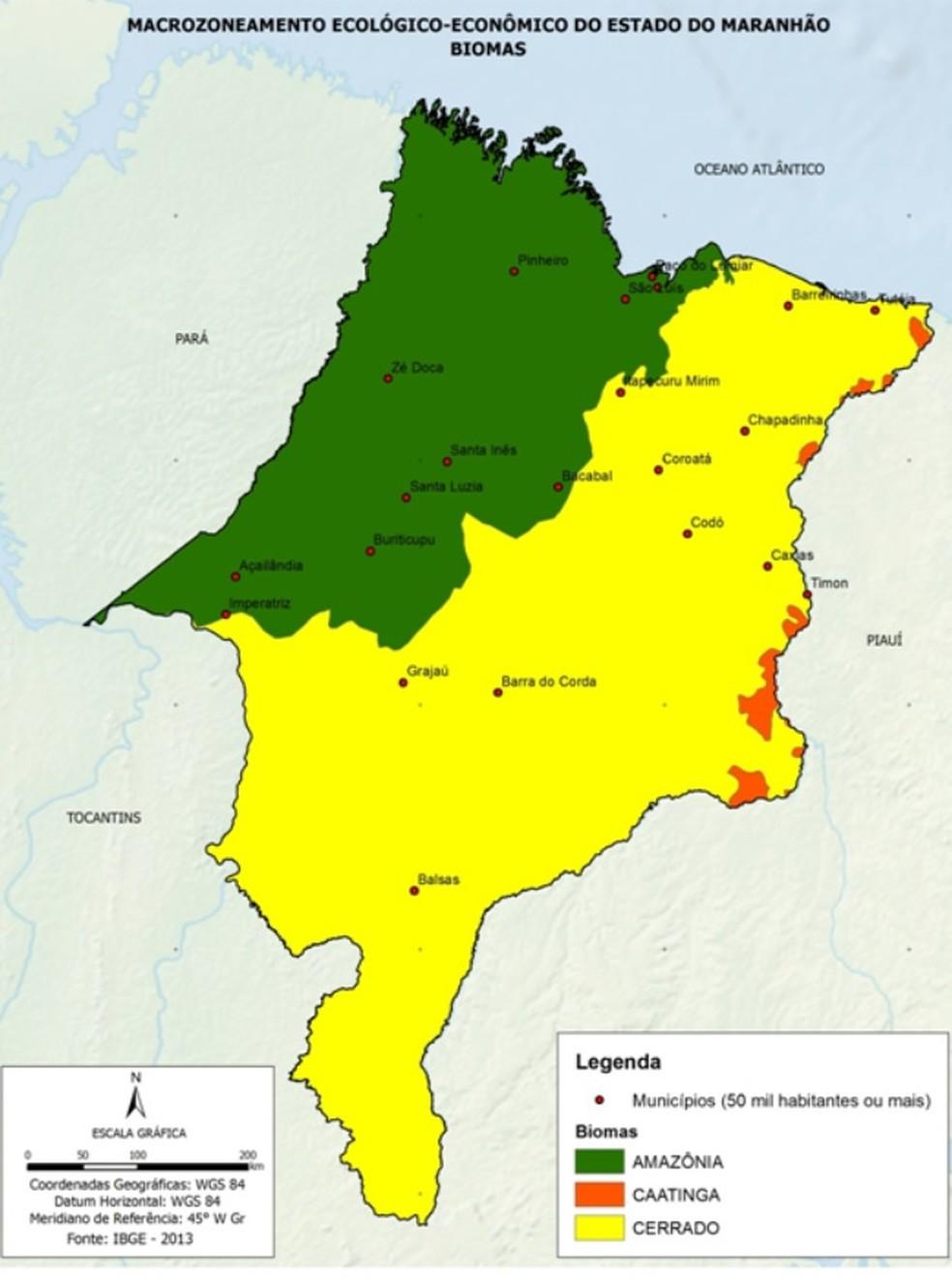 biomas ma - Queimadas no Maranhão cresceram 73% em julho, aponta Inpe. Fernando Falcão e Mirador concentram os maiores índices - minuto barra