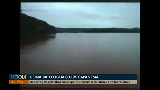 Reportagem relembra casos que marcaram a construção da hidrelétrica Baixo Iguaçu