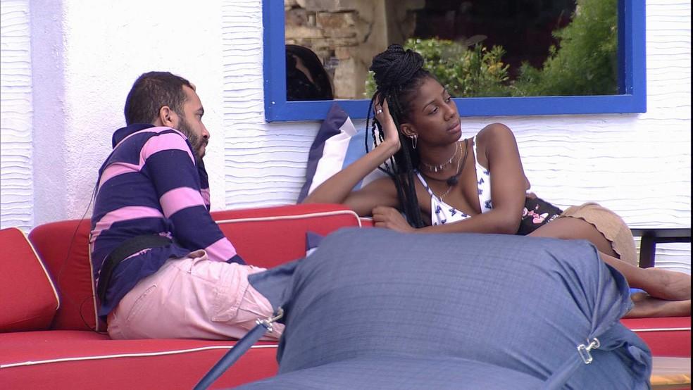 Camilla de Lucas revela mágoa com brother do BBB21: 'Agora meu nome é Maria Aparecida' — Foto: Globo