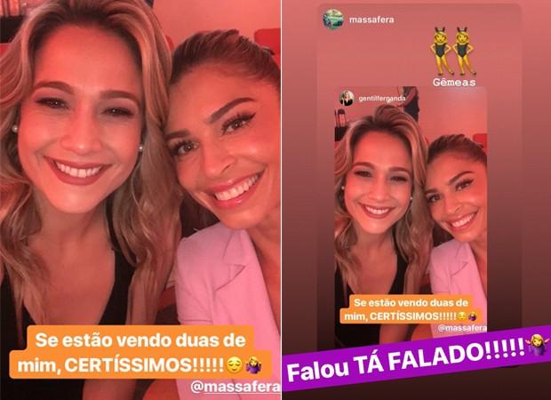 Fernanda Gentil e Grazi Massafera (Foto: Reprodução / Instagram)