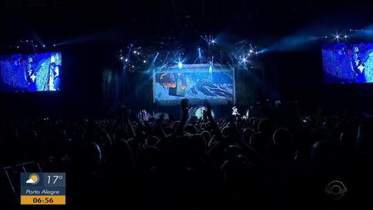 Iron Maiden se apresenta em Porto Alegre, e vocalista fala sobre a cerveja brasileira da banda: 'gosto é fabuloso'