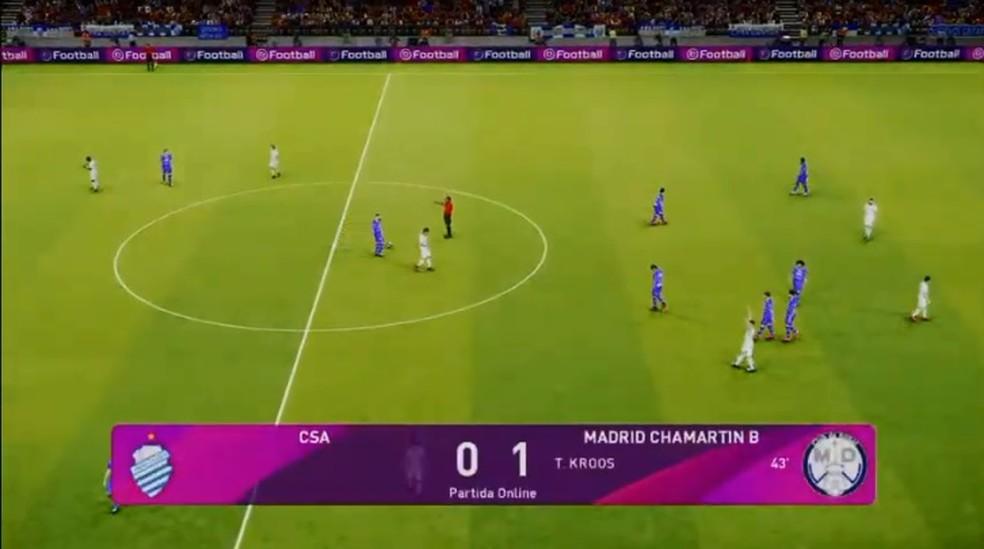 CSE desbancou o CSA no terceiro jogo da semifinal do e-Alagoano — Foto: Reprodução/FAF TV