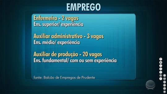 Confira as oportunidades de emprego em Presidente Prudente