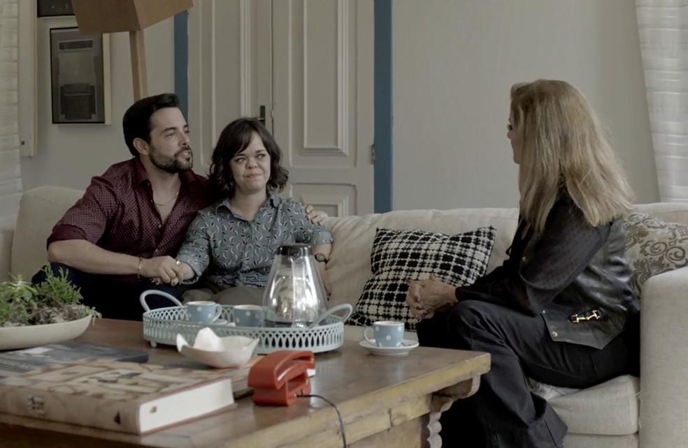 Sophia diz que aceita que Amaro se case com Estela Foto TV Globo