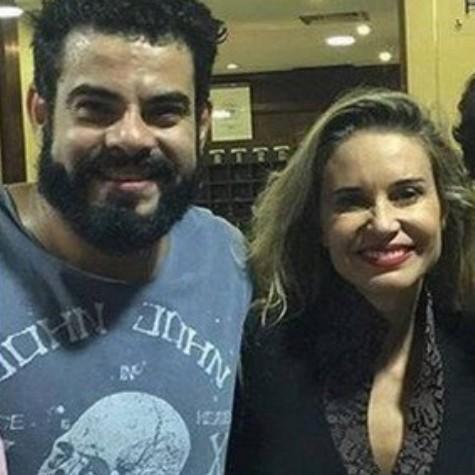 Paula Burlamaqui e o namorado, Edu Reyes (Foto: Reprodução)