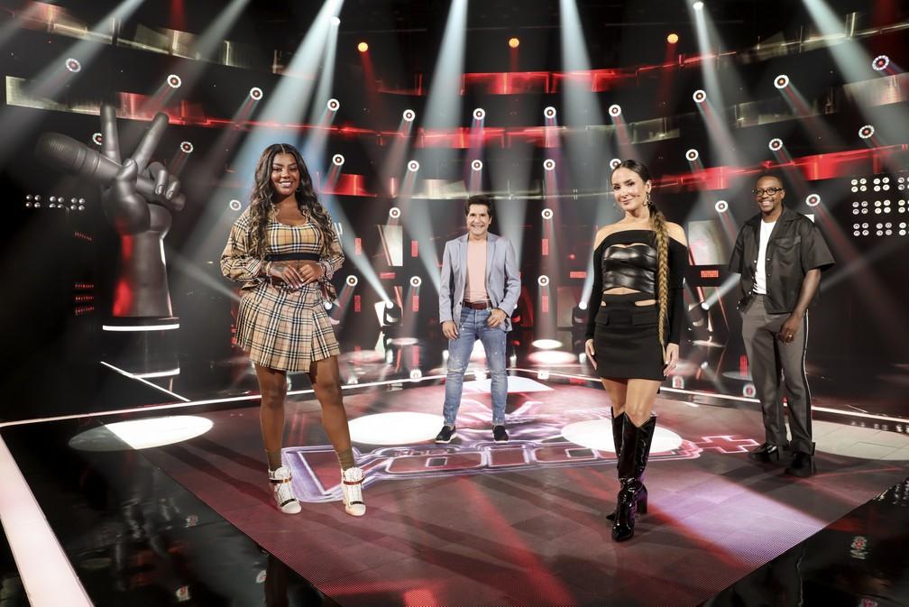 """Ludmilla, Daniel, Claudia Leitte e Mumuzinho são os técnicos do """"The Voice +"""" — Foto: Globo/João Miguel Júnior"""