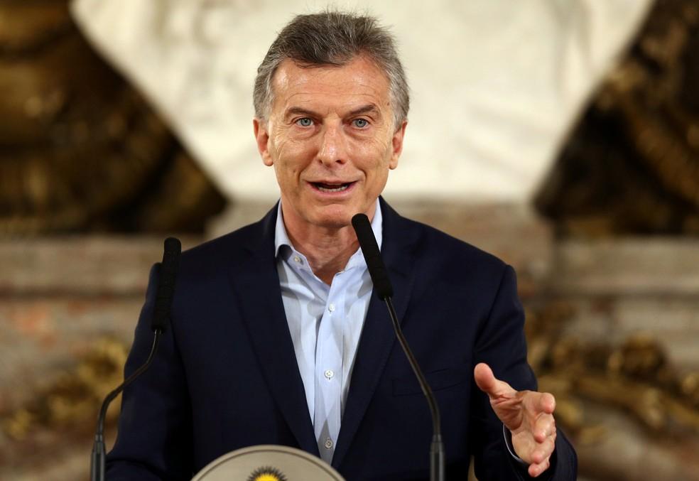 O presidente da Argentina, Mauricio Macri  (Foto: Marcos Brindicci / Reuters)