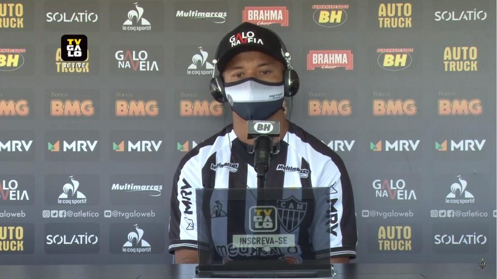 Lateral Mariano, do Atlético-MG — Foto: Reprodução/TV Galo