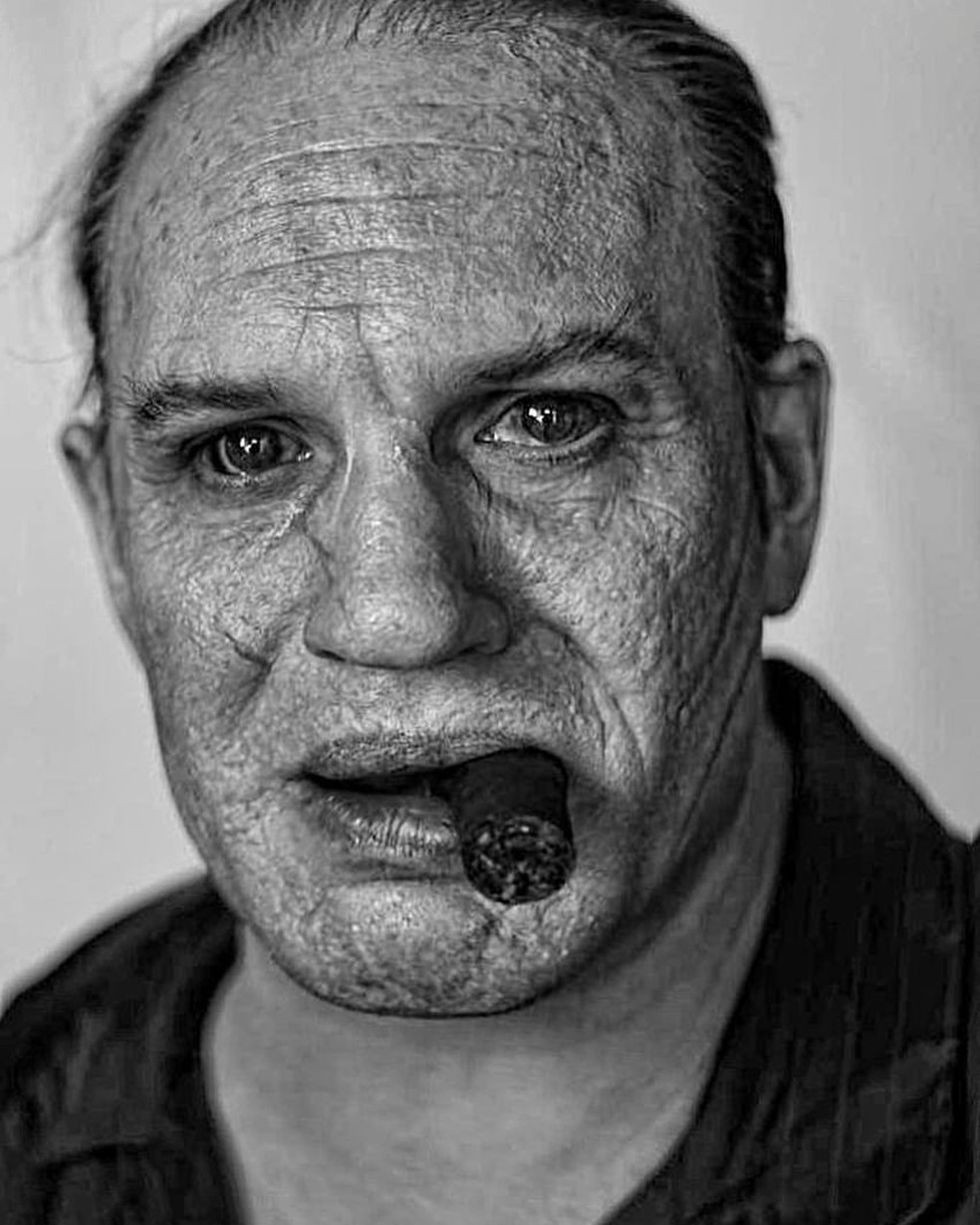 Fotógrafo mostra imagem de Tom Hardy como Al Capone e transformação surpreende  — Foto: Reprodução/Instagram