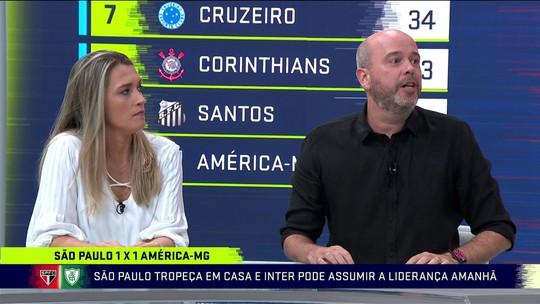 """Comentaristas criticam atuação do São Paulo contra o América-MG: """"Não está jogando bem"""""""