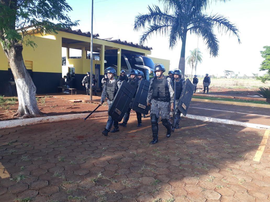 Vistoria em presídio que provocou protestos em MS apreende 89 armas e 52 barras de ferro