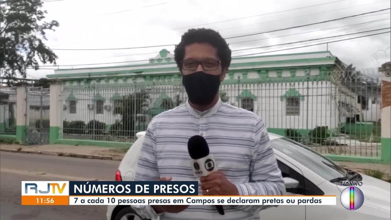 Mais de 70% da população carcerária de Campos se declaram de cor preta ou parda