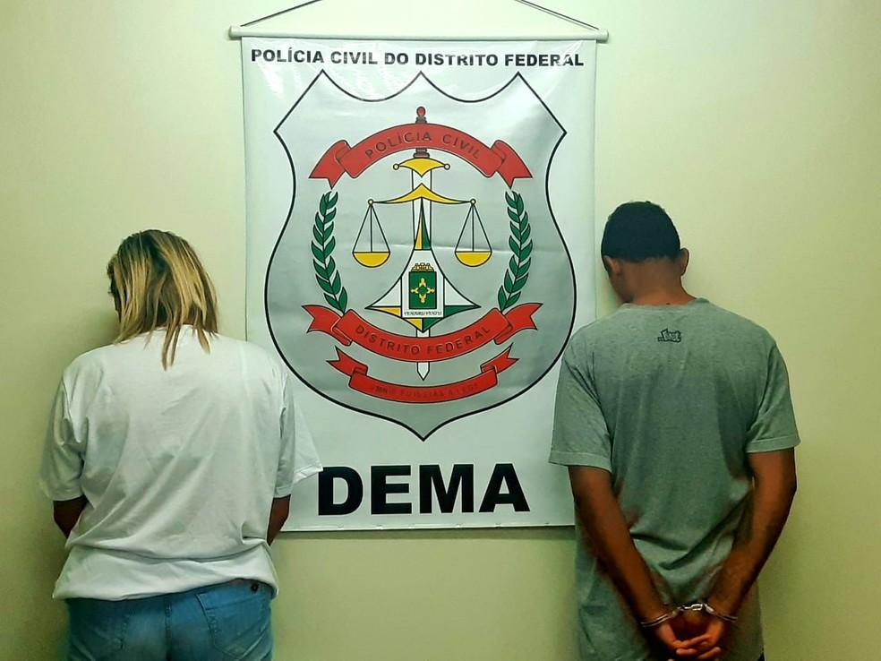 Dupla é acusada de fazer parte de uma quadrilha especializada em grilagem de terras no Distrito Federal — Foto: PCDF / Divulgação