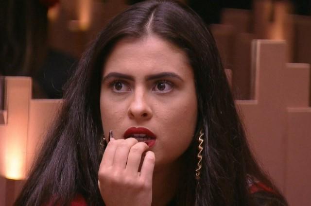 Hana, do 'BBB' 19, durante a estreia do programa (Foto: Reprodução)