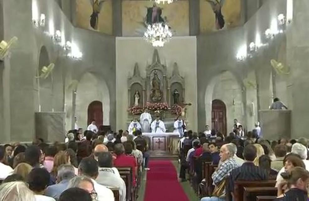 Celebrações marcam os 300 anos de paróquia em Aiuruoca (MG). (Foto: Reprodução/EPTV)