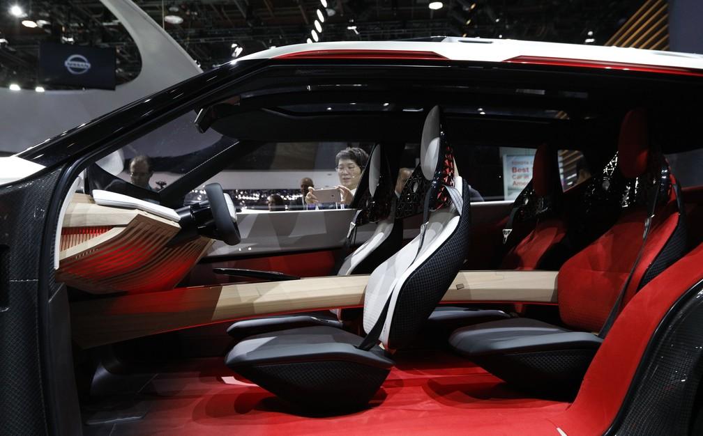 Interior do Nissan X motion (Foto: Brendan McDermid/Reuters)