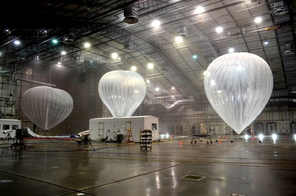 Balões estão sendo testados pelo Google para oferecer internet banda larga (Foto: Google/Divulgação)