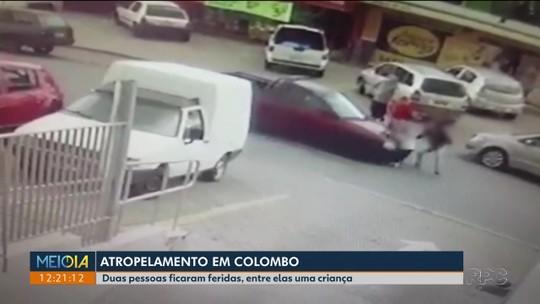 Criança solta mão da mãe ao atravessar rua e é atropelada em Colombo; VÍDEO