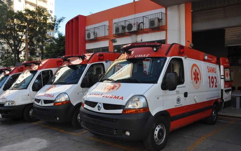 Ambulâncias do Samu (Foto: Divulgação/Prefeitura de Goiânia)