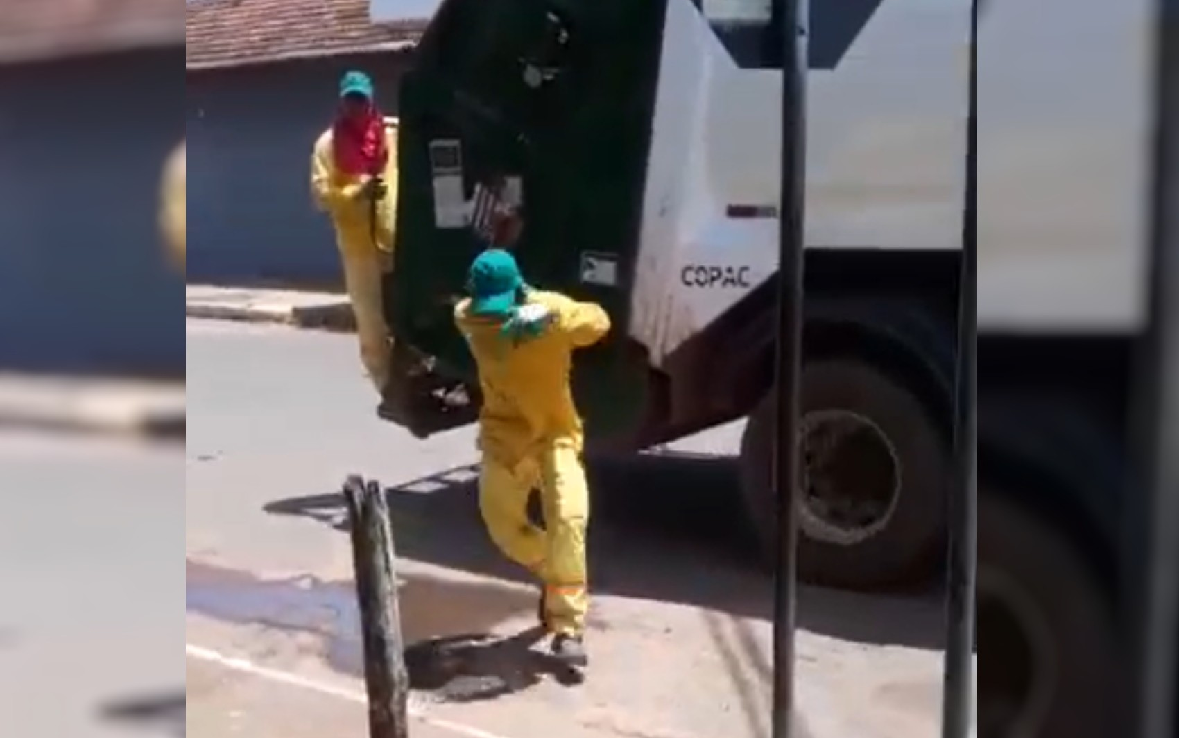 Coletor de lixo dança durante o trabalho e bomba na web; vídeo
