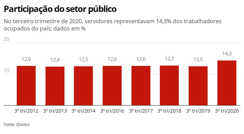 Participação do setor público — Foto: Economia G1