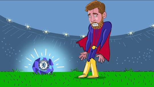 Criptonita azul: Super-Messi nunca fez gol em jogos contra o Chelsea
